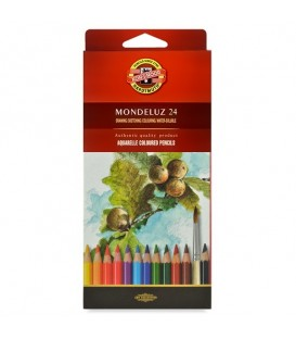 Koh-i-noor Mondeluz Aquarelle Pencils Set of 24 Colors