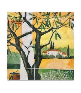 "Decoupage Paper Napkin ""Tuscan View"" Ti-flair 33 x 33cm"