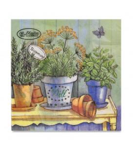 "Decoupage Paper Napkin ""Garden Herbs"" Ti-flair 33 x 33cm"
