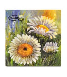 "Decoupage Paper Napkin ""Daisy Impressions"" Ti-flair 33 x 33cm"