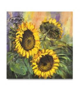 "Decoupage Paper Napkin ""Sunflower Impressions"" Ti-flair 33 x 33cm"