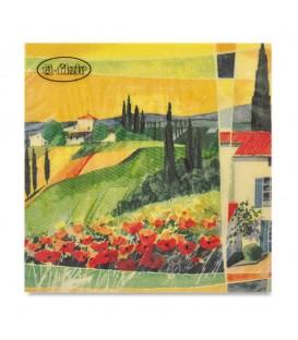 """Decoupage Paper Napkin """"Southern Sun"""" Ti-flair 33 x 33cm"""