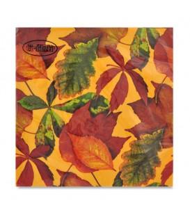 """Decoupage Paper Napkin """"Foliage Honey"""" Ti-flair 33 x 33cm"""