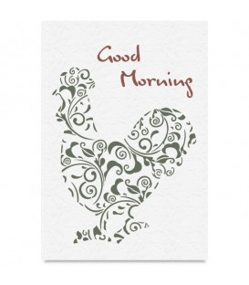 "Country Stencil for Decoration ""Good Morning"" Cobea 21 x 29,7 cm (A4)"