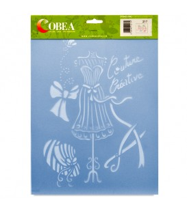 "Country Stencil for Decoration ""Couture Creative"" Cobea 21 x 29,7 cm (A4)"