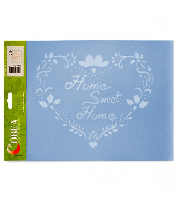 """Country Stencil for Decoration """"Home Sweet Home"""" Cobea 21 x 29,7 cm (A4)"""