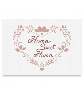 "Country Stencil for Decoration ""Home Sweet Home"" Cobea 21 x 29,7 cm (A4)"