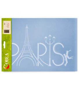 "Country Stencil for Decoration ""Paris"" Cobea 21 x 29,7 cm (A4)"