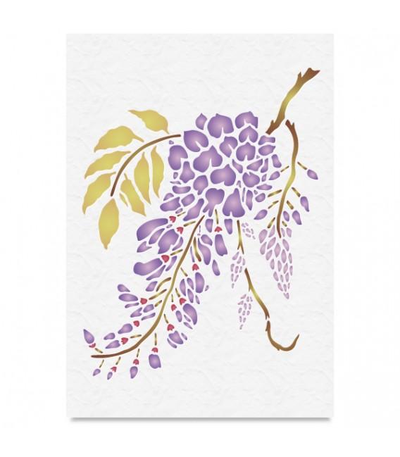 "Country Stencil for Decoration ""Acacia Flowers"" Cobea 21 x 29,7 cm (A4)"