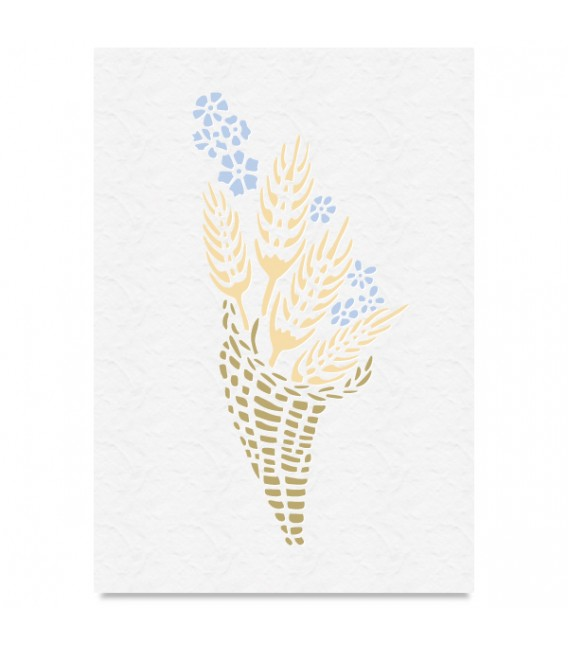 """Country Stencil for Decoration """"Wheatear"""" Cobea 21 x 29,7 cm (A4)"""