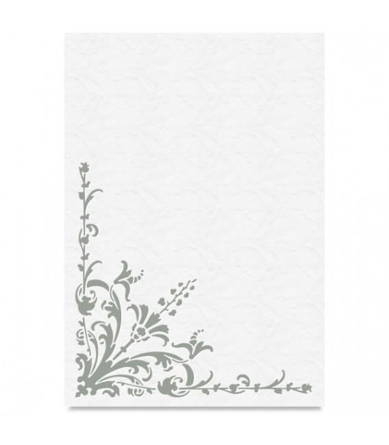"""Country Stencil for Decoration """"Ornamen Plant"""" Cobea 21 x 29,7 cm (A4)"""