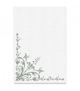 "Country Stencil for Decoration ""Ornamen Plant"" Cobea 21 x 29,7 cm (A4)"