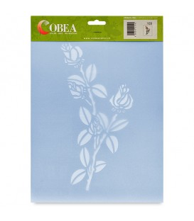 "Country Stencil for Decoration ""Roses"" Cobea 21 x 29,7 cm (A4)"