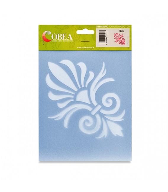 """Country Stencil for Decoration """"Ornament"""" Cobea 14,8 x 21 cm (A5)"""