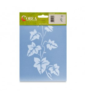 "Country Stencil for Decoration ""Ivy Plant"" Cobea 14,8 x 21 cm (A5)"
