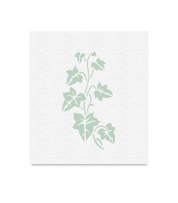"""Country Stencil for Decoration """"Ivy Plant"""" Cobea 14,8 x 21 cm (A5)"""