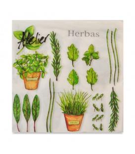 "Decoupage Paper Napkin ""Herbs""  Atelier Design Collection 33 x 33cm"