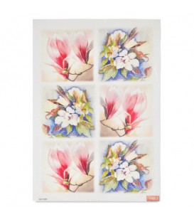 "Decorative Rice Paper ""Flowers"" Cobea 30 x 40 cm 25 g / m²"