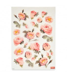 "Decorative Rice Paper ""Pink Roses"" Cobea 30 x 40 cm 25 g / m²"
