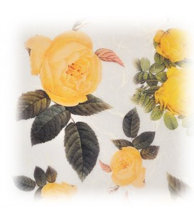 "Decorative Rice Paper ""Yellow Roses"" Cobea 30 x 40 cm 25 g / m²"