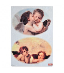 "Decorative Rice Paper ""Little Angels"" Cobea 30 x 40 cm 25 g / m²"