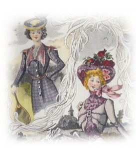 "Decorative Paper ""Ladies"" Tassotti 50 x 70 cm 85 g/m²"