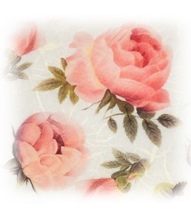 "Decorative Rice Paper ""Pink Roses"" Cobea 30 x 40 cm 25 g/m²"
