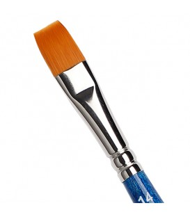 Flat Brush Tintoretto S874 Amber Synthetic Fiber
