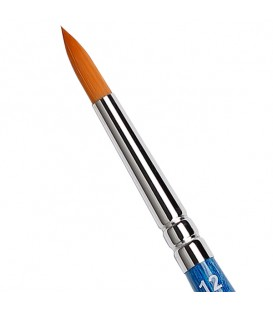 Round Brush Tintoretto S943 Amber Synthetic Fiber