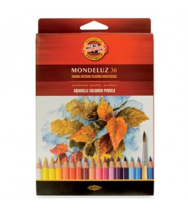 Koh-i-noor Mondeluz Aquarelle Pencils Set of 36 Colors