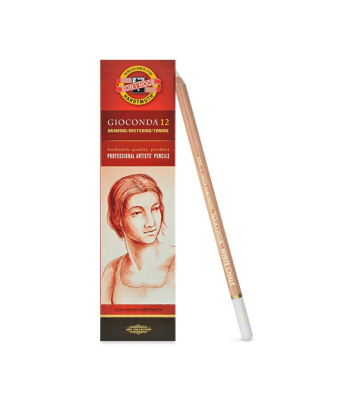 White Chalk Pencil Koh I Noor Gioconda 8801