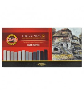 Set of hard pastels Koh-I-Noor Gioconda 8122 brown shade 12 colors
