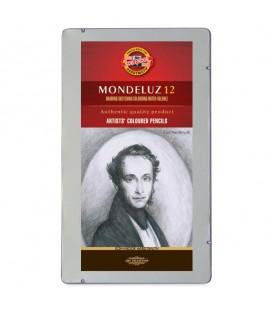 Koh-I-Noor Mondeluz Set оf 12 Aquarell Coloured Pencils 3722 Grey Line