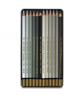 Koh-I-Noor Mondeluz Set оf 12 Aquarell Coloured Pencils 3722 Brown Line
