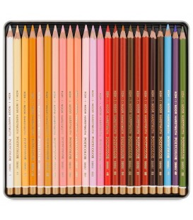 Koh-I-Noor Polycolor Set оf 24 Artist´s Coloured Pencils 3824 Portrait
