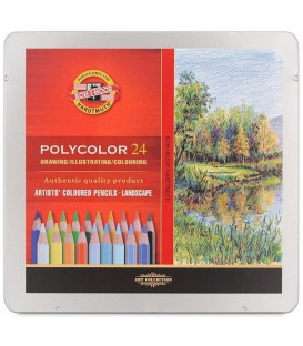 Koh-I-Noor Polycolor Set оf 24 Artist´s Coloured Pencils 3824 Landscape