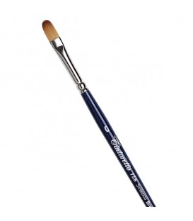 Filbert Brush Tintoretto S758 Bronze Synthetic Fibre Long Handle