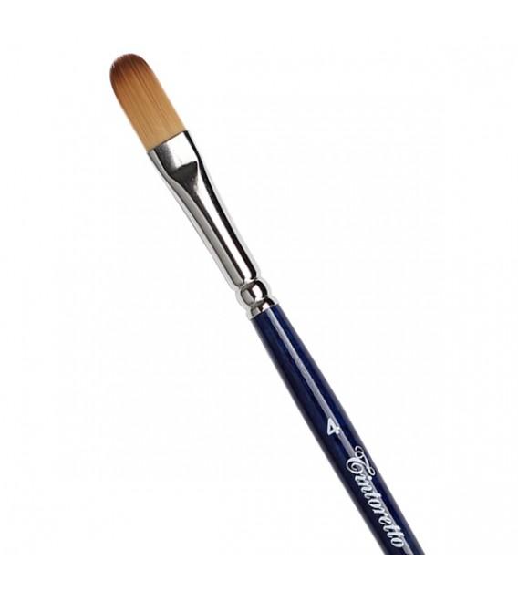 Filbert Brush Tintoretto S758 Bronze Synthetic Fibre Long Handle