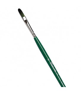 Filbert Brush Tintoretto S378 Emerald Synthetic Fibre Long Handle