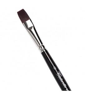 Flat Brush Tintoretto S855 Plum Synthetic Fibre Long Handle