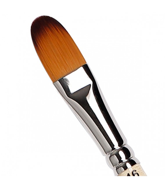 Filbert Brush Tintoretto S762 Mars Synthetic Fiber Long Handle
