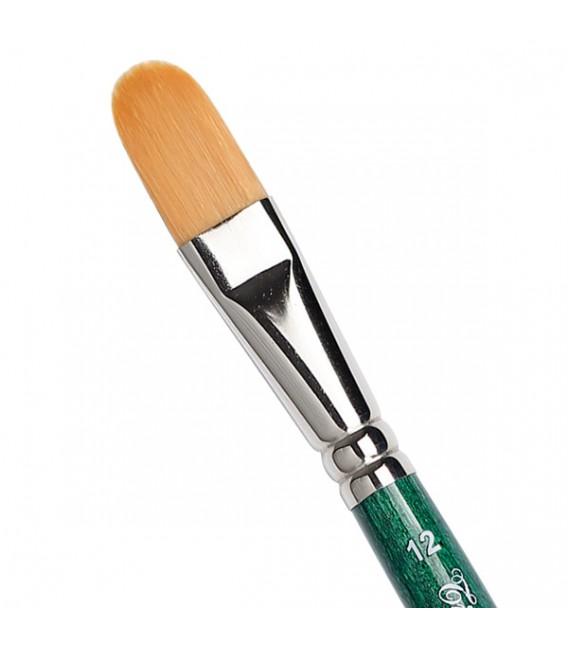 Filbert Brush Tintoretto S868 Thin Synthetic Fiber Long Handle