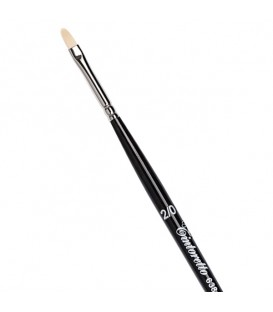 Filbert Brush Tintoretto S638 Ivory Synthetic Fibre Long Handle