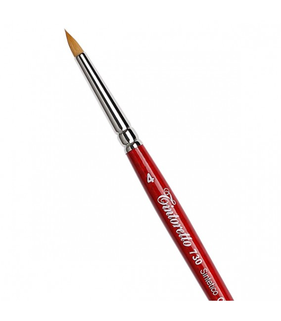 Short Round Brush Tintoretto S730 Gold Synthetic Fiber