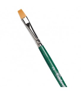Flat Brush Tintoretto S866 Thin Synthetic Fiber Long Handle