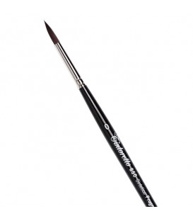 Round Brush Tintoretto S850 Plum Synthetic Fibre Long Handle