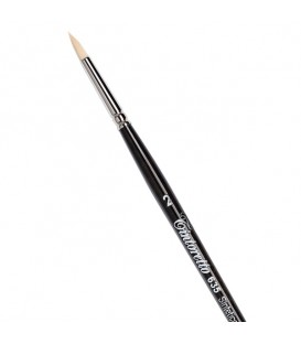 Round Brush Tintoretto S635 Ivory Synthetic Fibre Long Handle