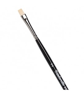 Flat Brush Tintoretto S636 Ivory Synthetic Fibre Long Handle
