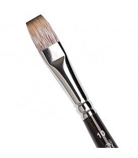 Flat Brush Tintoretto S460 Mongoose Synthetic Fibre Long Handle