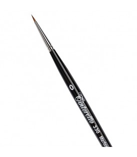 Short Round Brush Tintoretto S330 Kolinsky Sable Hair